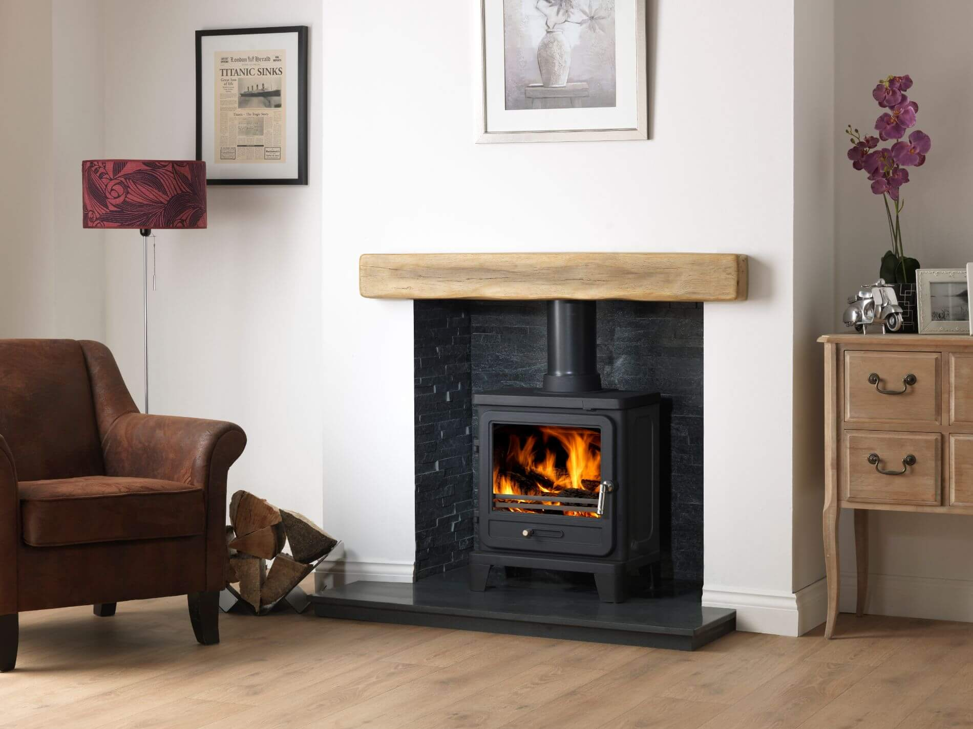 Vega Edge 200SL Light Geocast Beam Honed Granite HEarth